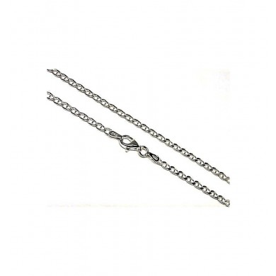 Ancora Silver Chain 80 Cm Long And 0.60 Mm Thickness