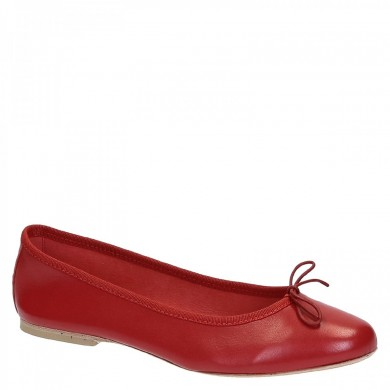 Dancers elegant slip-on from artisan woman in red nappa leather NAPPA LEATHER RED 6087