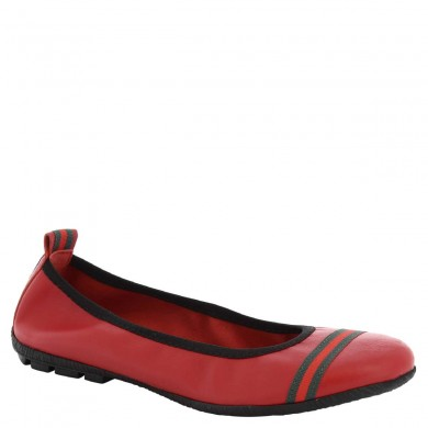 Dancers from hand-made woman in red leather 5618 G / RED NAPPA SOSIA