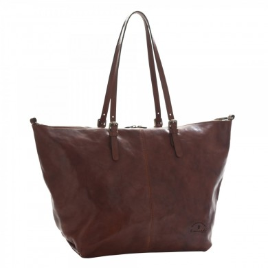 Small bag Women full grain leather with zipper and adjustable handles 1110
