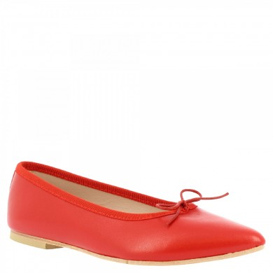 pointy ballerinas slip on from hand-made woman in red tassel 1178 NAPPA RED