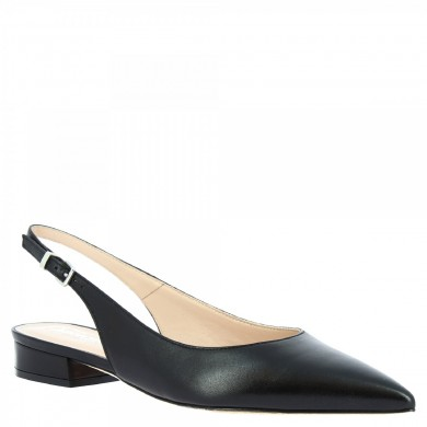 toe slingback Dancers from hand-made woman in black calfskin 138 NAPPA BLACK