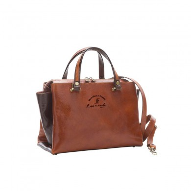Torino bag handmade by leather bag medium grain with zipper and removable shoulder strap in various colors 1113M