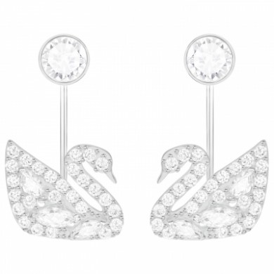 Dangly Earrings Swarovski Crystal Women Swan Lake